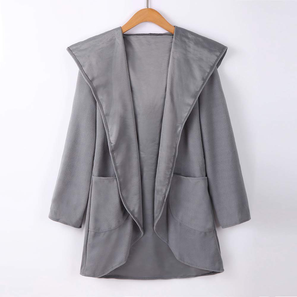 ZHRUI Womens Wool Hooded Thin Coat Suelta Casual Hoodies Chaqueta Rompevientos (Color : Gris Oscuro, tamaño : Small): Amazon.es: Hogar