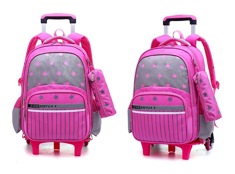 eef1f1bb3f BOYH Zaini per Bambini Zaino rotolante,Trolley Scuola Borsa,Trolley con  Ruote Ruote Ruote Salire Le Scale Adatto Adolescenti,Studenti, Scuola e  Viaggio ...