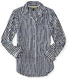 Aeropostale Womens Checkered Pocket Button up Shirt Blue M - Juniors