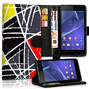 Wallet Wicostar–Funda Case Funda Carcasa diseño Funda para Samsung Galaxy S2Plus I9105–Diseño Flip mvd185