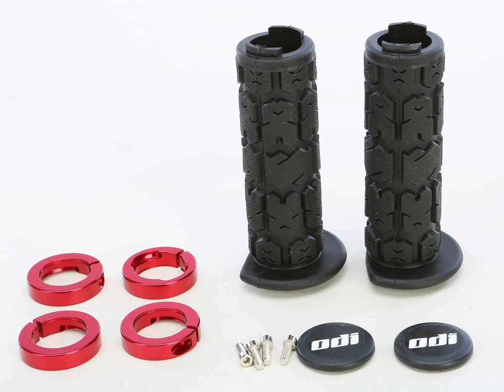 ODI ATV Rogue Lockon 120mm Off-Road Motorcycle Hand Grips - Black/Red/One Size