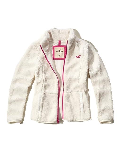 Hollister - Chaqueta - para Mujer Marfil Blanco Crema Large: Amazon.es: Ropa y accesorios