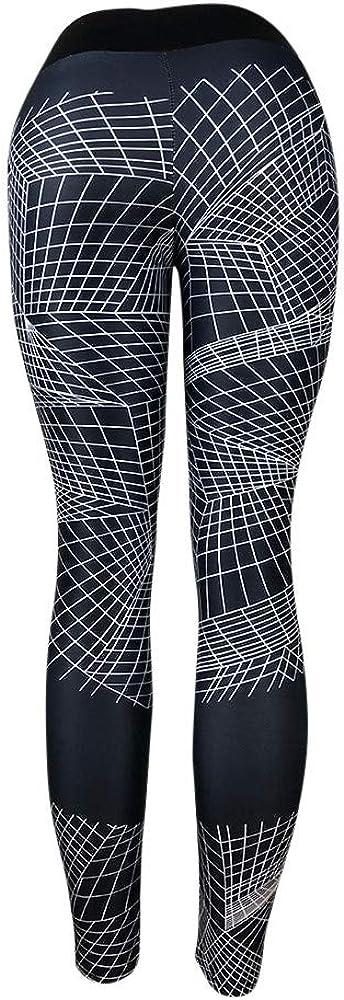 Gergeos Sports Pants Womens 3D Digital Print Workout Fitness Yoga Athletic Leggings