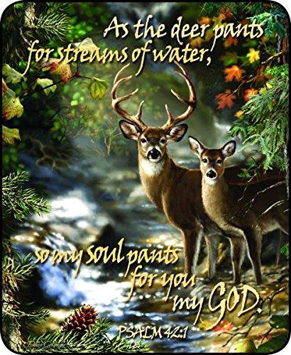 Regal Comfort Deer Creek Scripture Medium Weight Faux Fur Blanket durable service