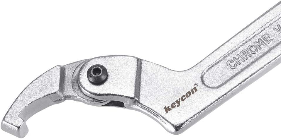 1 1//4-3 inches 32-76 mm Chrome vanadium adjustable hook wrench square nose C wrench tool