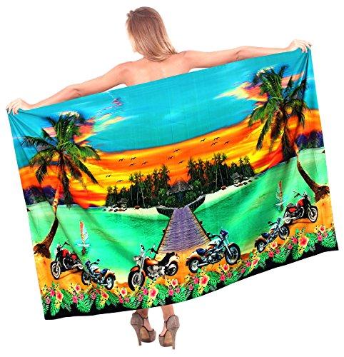 traje de baño bikini pareo playa de la isla de crucero mujeres más la ropa de playa encubren envoltura Verde|Nosotros: 36W (3X) / Reino Unido: 38