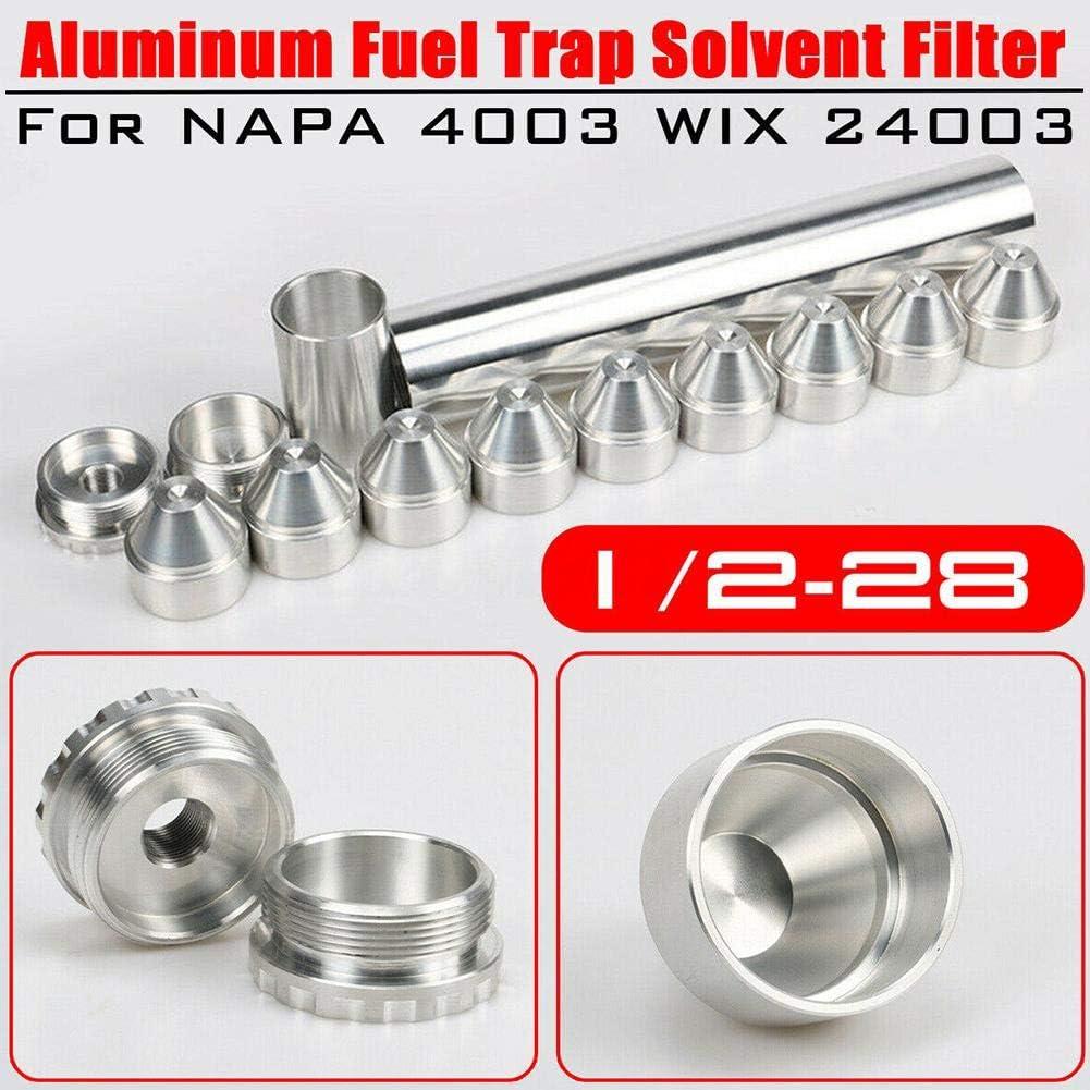 Solo per Auto Hook.s 13PCS Filtro Carburante 1//2-28 O 5//8-24 Alluminio Filtro Carburante Filtro Solvente per Napa 4003 24003 Filtro 10IN