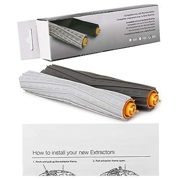 GROOMY 1 Juego de Cepillo Extractor para iRobot Roomba 800 900 Series 880 870 860 980 990, Accesorio para aspiradora: Amazon.es: Hogar