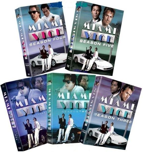 Miami Vice Seasons 1 5 Dvd Covers 1984 1990 R1 Custom