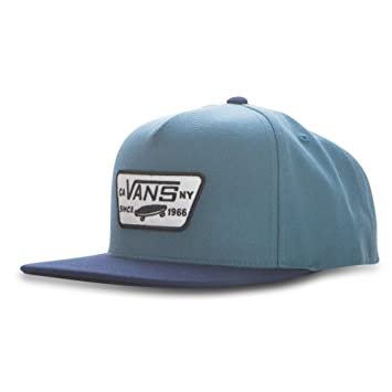 ccdcc15f71d Vans Full Patch Snapback Cap Blue Ashes Dress Blues One Size  Amazon ...