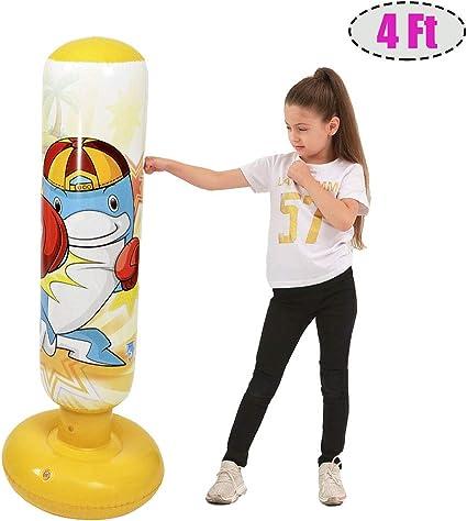 Inflatable Punching Bag Standing For Kids Socker Bopper Training Exercise Toys