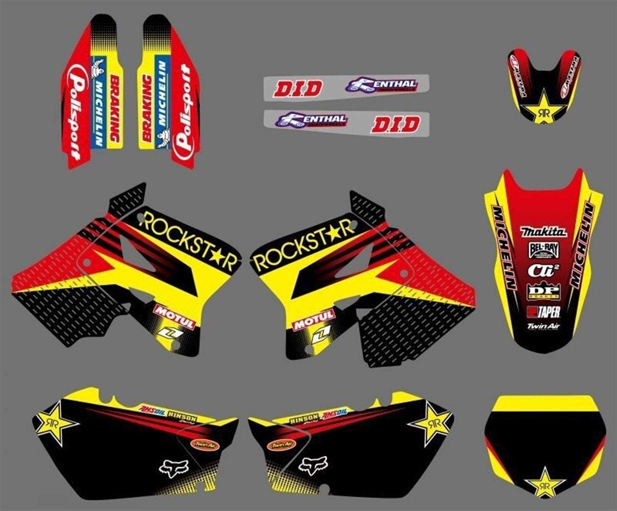 Durable DECALS STICKERS Graphics amp; Backgrounds Kits for Suzuki RM125 RM250 2001 02 03 04 05 06 07 08 09 10 2011 2012 RM 125 250 Chic