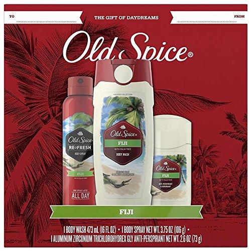Old Spice 3 pcs Gift Set - Body Wash, Antiperspirant and Body Spray (Body Wash Gift)