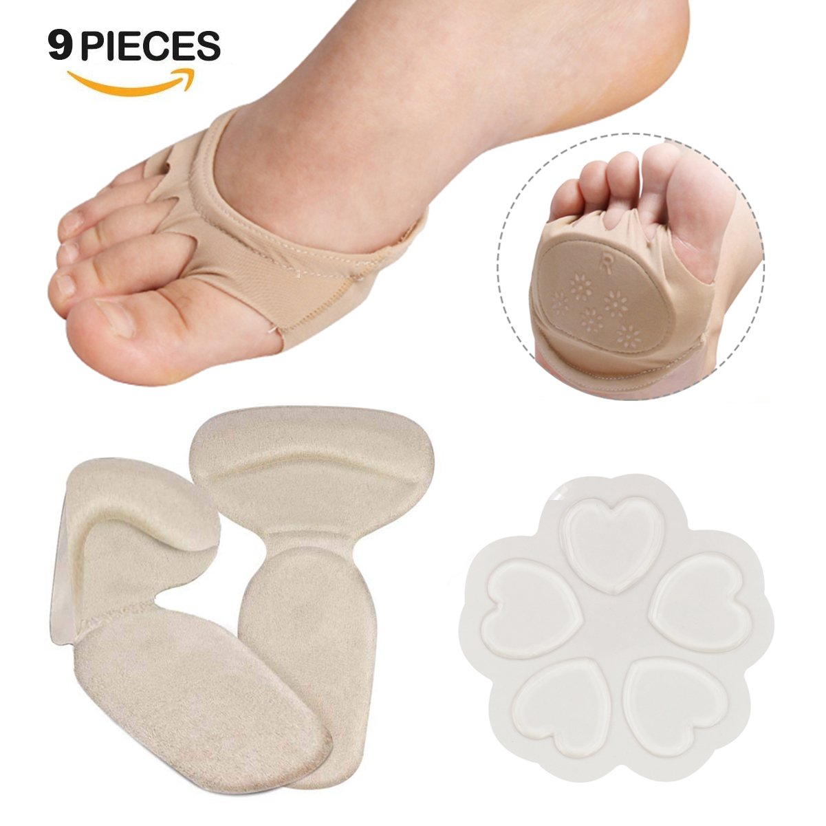 Forefoot Cushions, High Heel Inserts, Heel Grips, Forefoot Pain Relief For Women