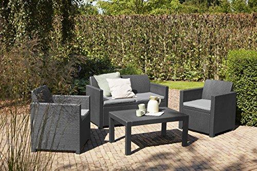 rattan kunststoff free set pflanzkbel juka aus kunststoff in rattan optik mit with rattan. Black Bedroom Furniture Sets. Home Design Ideas