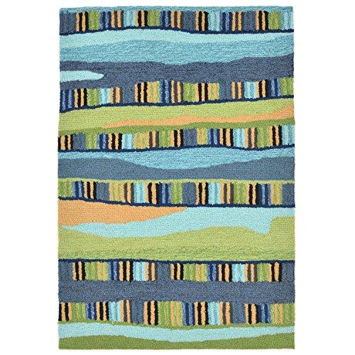 Liora Manne RV123A95006 Cool Torello Organic Stripes Rug, 24
