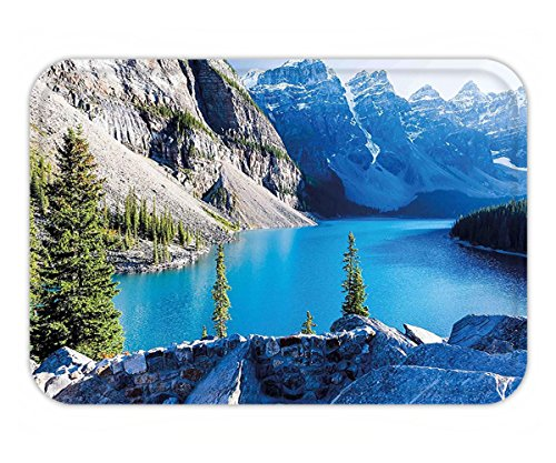 Minicoso Doormat Nature Moraine Lake Banff National Park Canada Mountains Pines Valley of the Ten Peaks Blue Green - Canada Adler