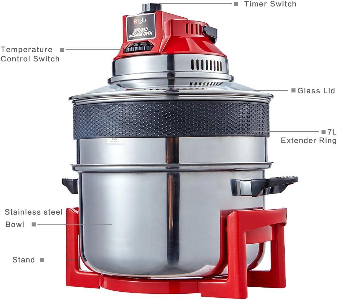 Freidora de aire libre de aceite, horno de convección halógeno de ...