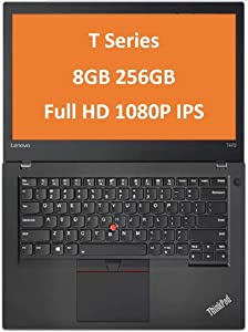 "Lenovo ThinkPad T470 14"" IPS Full HD FHD (1920x1080) Business Laptop (Intel Core i5-6300U, 8GB DDR4 RAM, 256GB PCIe NVMe M.2 SSD) Thunderbolt 3, Type-C, HDMI RJ-45, Windows 10 Professional (Renewed)"