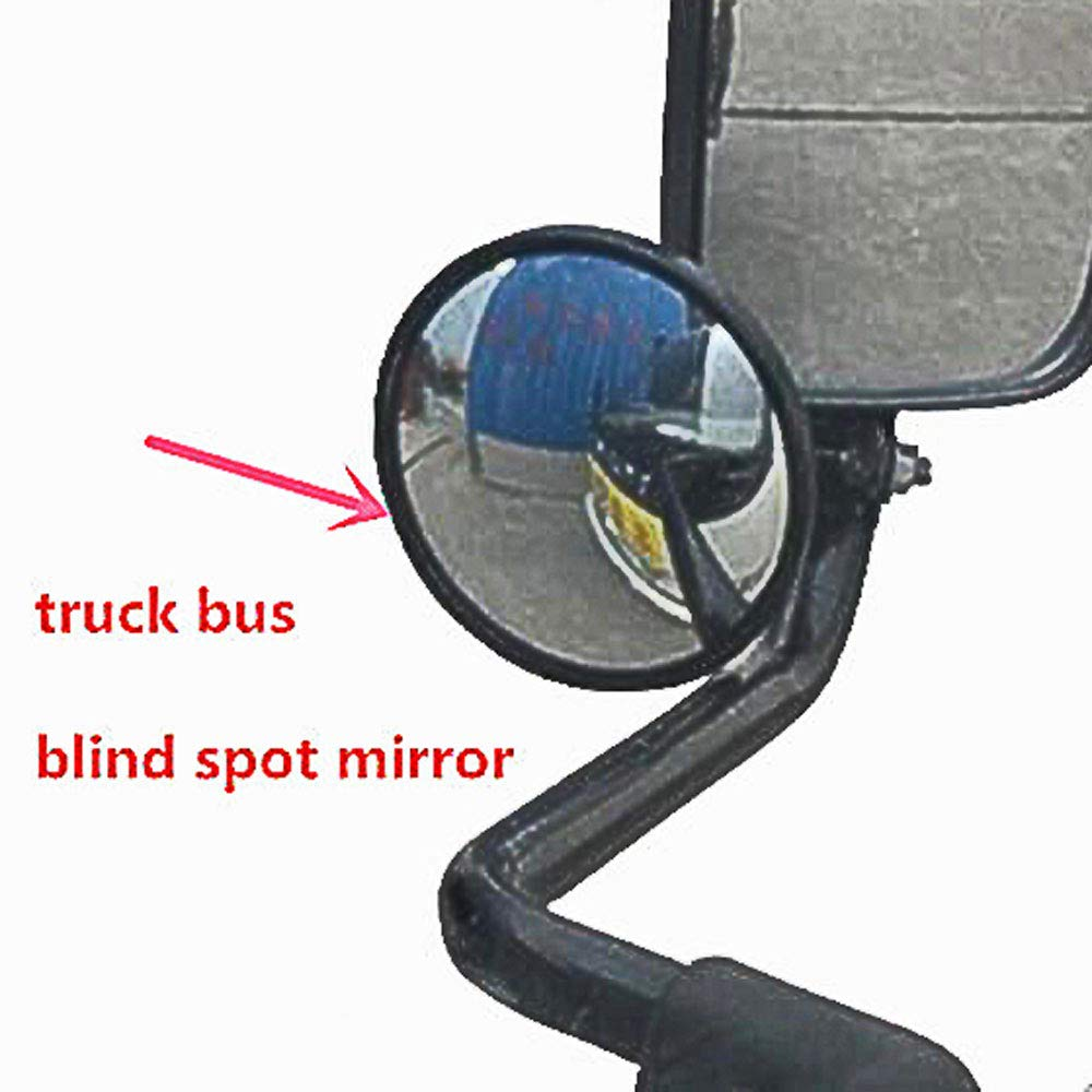 MXECO Car Accessories Small Round Mirror Car Rearview Mirror Blind Spot Wide-angle Lens 360 degree Rotation Adjustable