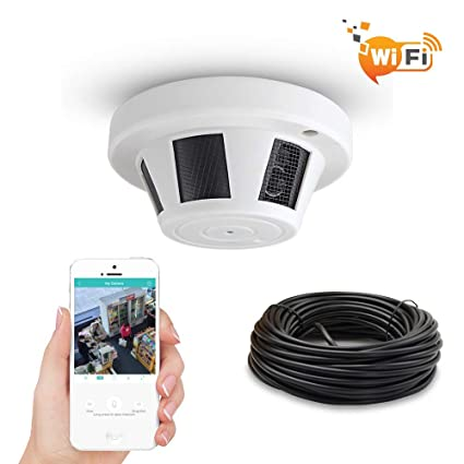Buy More Secure New WiFi Smoke Detector Hidden Spy Camera