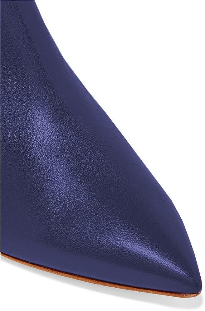 Luta - Stivaletti da donna con chiusura lampo e tacco Blu