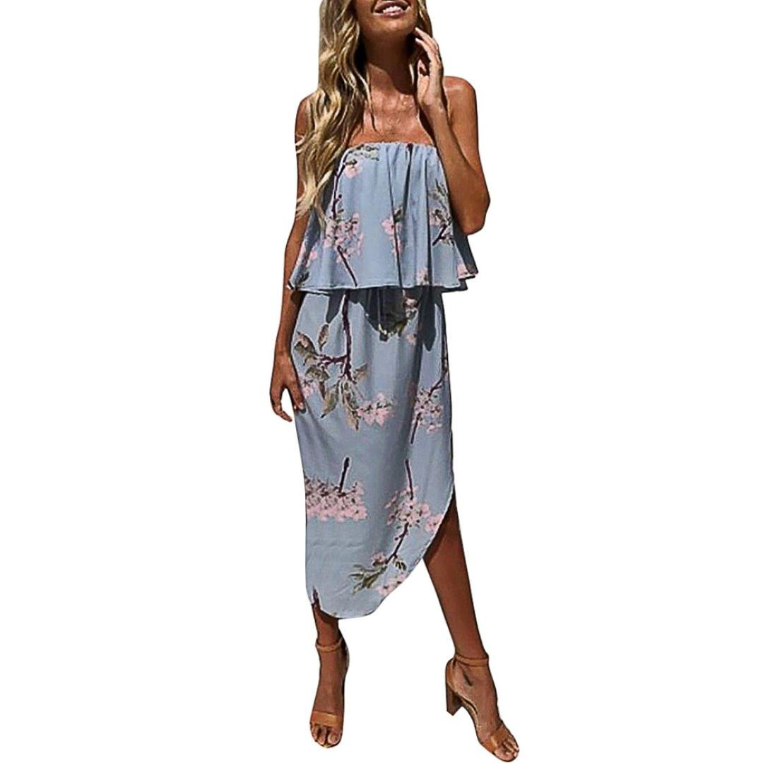 Dress for Women, Womens Off The Shoulder Blue Prom Fashion