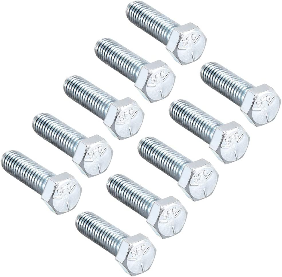 uxcell Hex Head Screw Bolts Carbon Steel 5//16 inches-18x2-3//4 inches Fastener Grade 5 UNC 10pcs