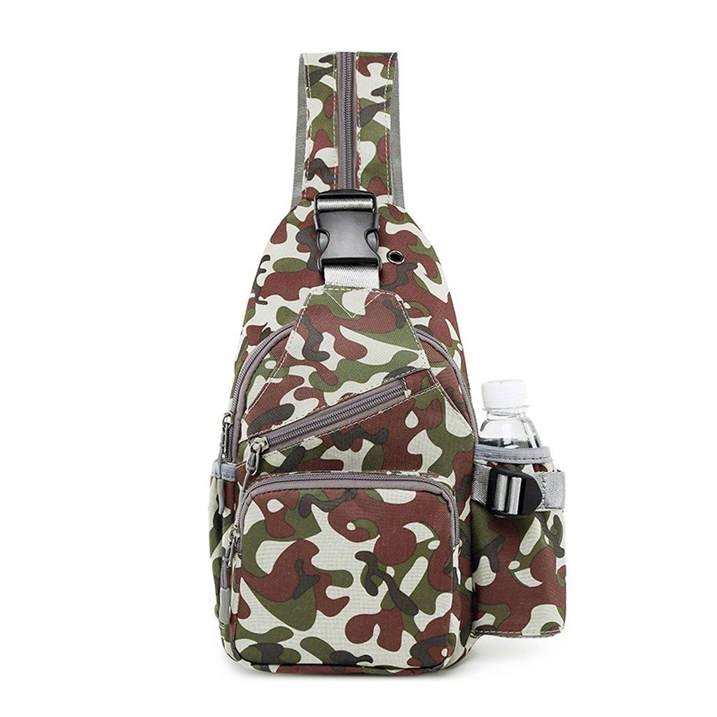 Brusttasche Freizeit Oxford Tuch Multifunktions Satchel Outdoor Sports Gürteltasche Einzelner Schulterbeutel (Farbe : Camouflage, Größe : 19  7  30CM)
