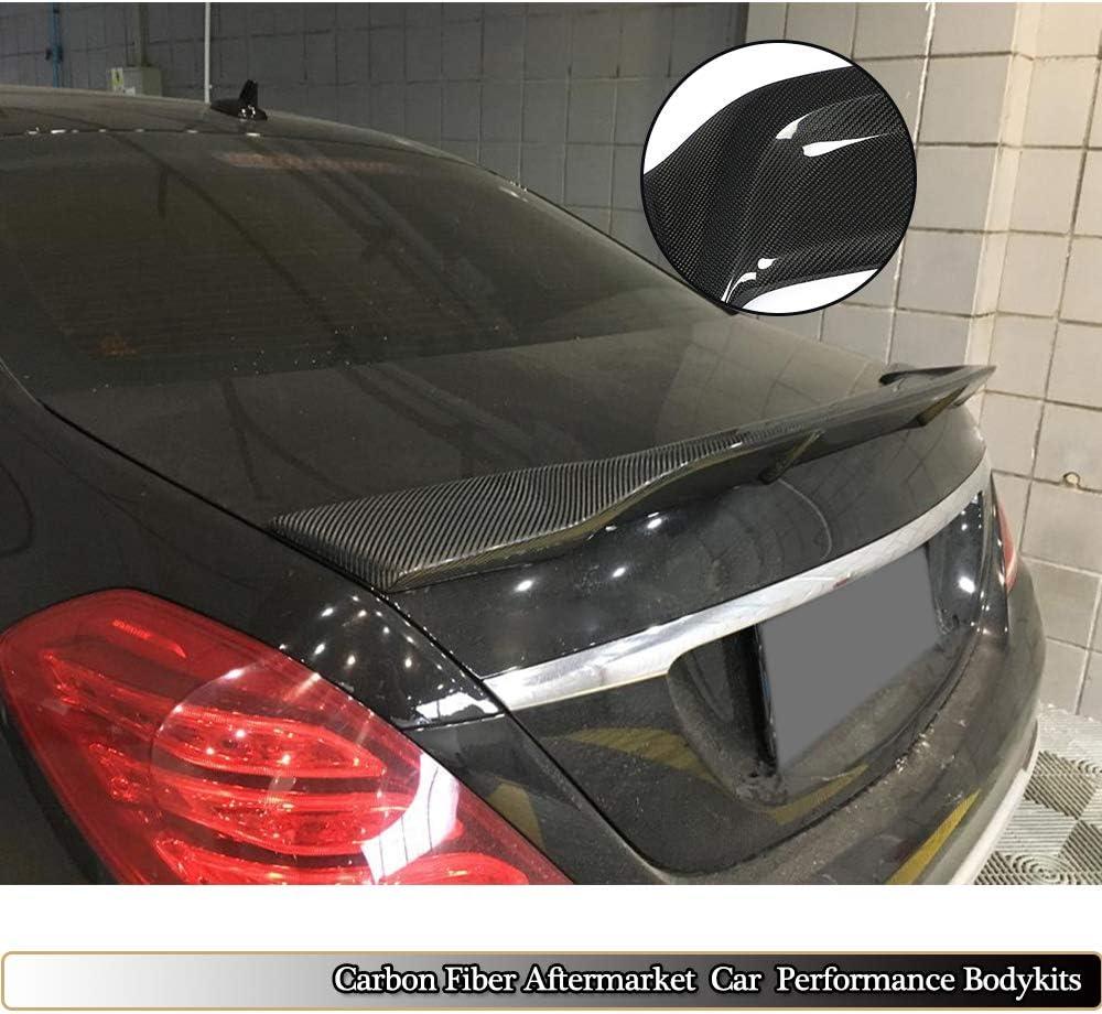 MCARCAR KIT Trunk Spoiler fits Mercedes Benz S Class W222 Sedan 2014-2019 Factory Outlet S400 S450 S500 S550 S560 S600 S63 S65 AMG Auto Carbon Fiber Rear Boot Lid Highkick Spoiler Wing Lip