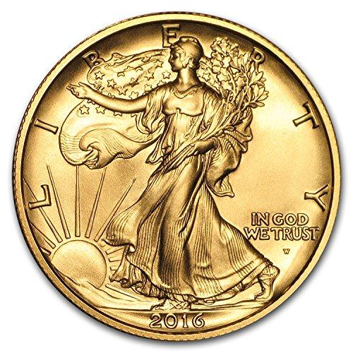 2016 W 1/2 oz Gold Walking Liberty Half Dollar Centennial (w/OGP) 1/2 OZ Brilliant ()
