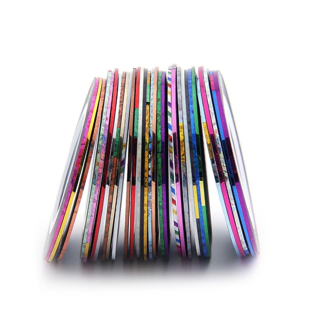 Nail Tools Oyedens 30pcs rolls Uñas Creación De Bandas De Cinta Diy 3d Del Clavo Extremidades Del Arte Del Vinilo Decorativo + 1pcs Caja: Amazon.es: ...