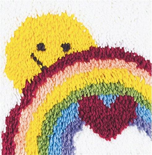 Wonderart Sunshine Rainbow Latch Hook Kit, 12