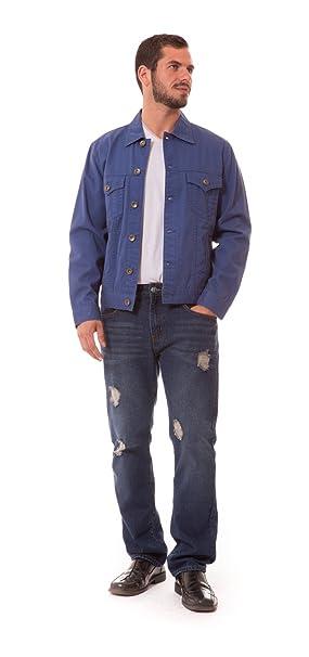 c055c8caa07 Agile chaqueta vaquera lavada para hombre Grande Real  Amazon.es  Ropa y  accesorios