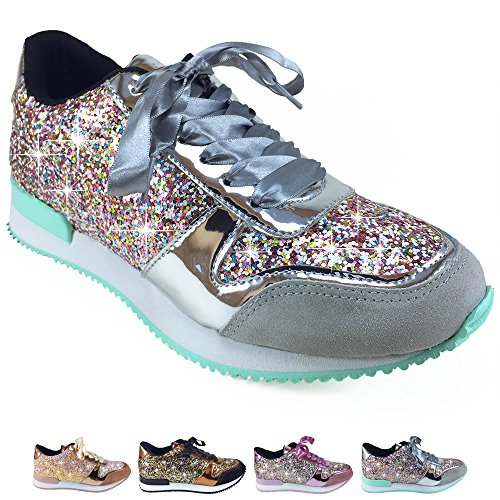 Barcelonetta Women Glitter Fashion Sneakers Tennis Shoes Silver 2015 new for sale with paypal cheap online cheap prices reliable cheap shopping online 100% original online sac9BHdUyi