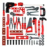 KIDAMI Deluxe 52 Piece Kids Toy Tool Set, Construction Tool Sets Pretend Play Toys with a Handy Storage Bag
