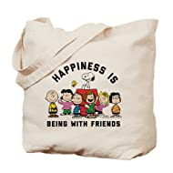 CafePress - Peanuts Happiness Is Friendship - Natural Canvas Tote Bag, Cloth Shopping Bag
