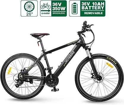 HOTEBIKE Bicicleta eléctrica de montaña de aleación de Aluminio ...
