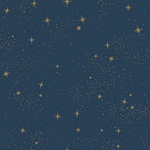 Roommates Upon A Star Peel And Stick Wallpaper Navy