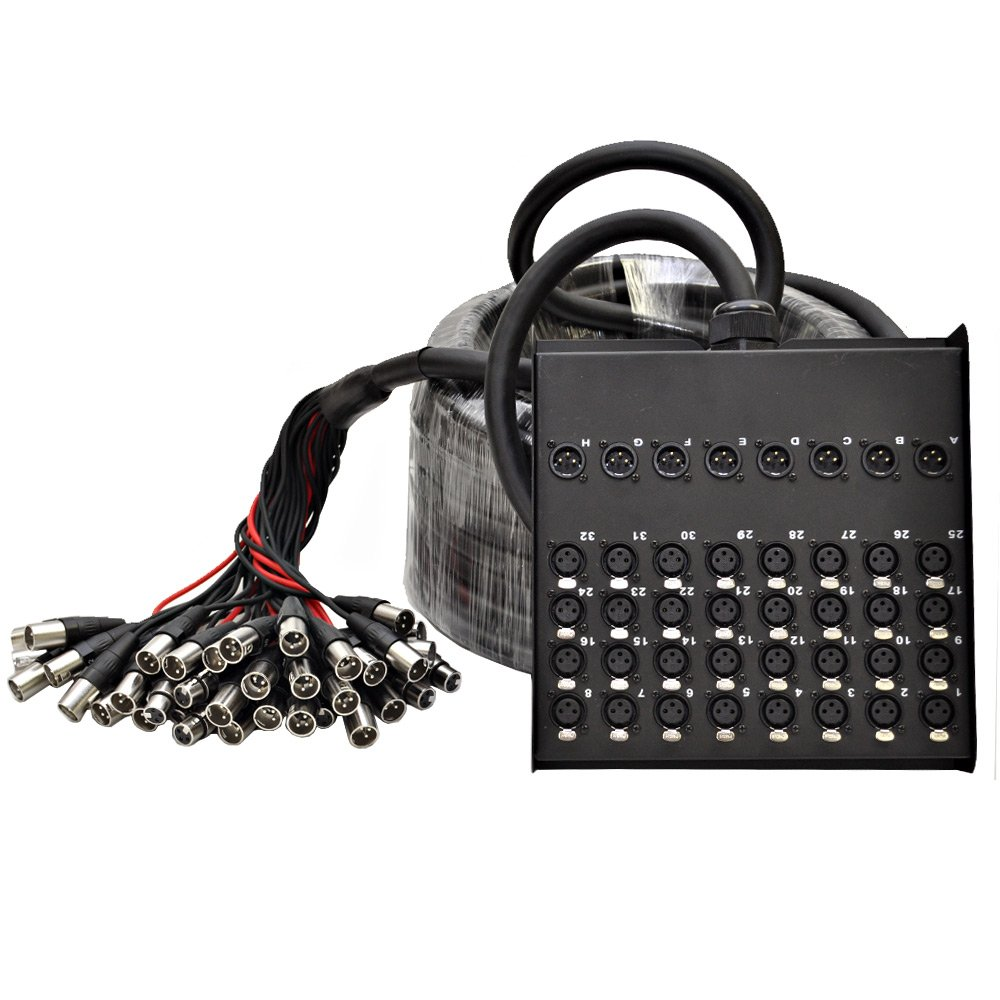 Seismic Audio SACB-32x8x100 32-Channel XLR Low Profile Circuit Board Snake Cable, 100-Feet