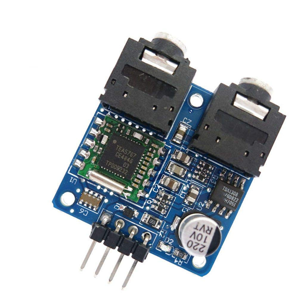 Morza TEA5767 FM Stereo Radio Module Replcement for Arduino 76-108MHZ Free Cable Antenna