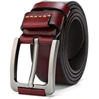 Cinturón de los hombres, hebilla de alfiler de la vendimia, cinturón de cuero con estilo, cinturones formales casuales, trabajo clásico de cuero básico activo, ideal para pantalones de mezclilla y rop