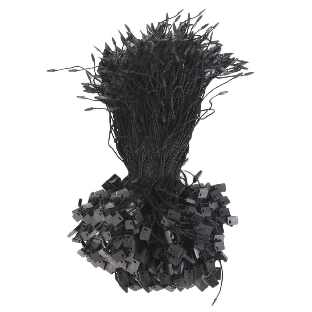 LOVIVER 1000pcs Nylon Lí nea de Etiqueta de Precio de Ropa Negra