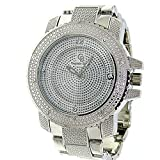 Letter Fashion Mens Crystal Silver Captain Bling Ice Nation Punk Watch With Metal Band
