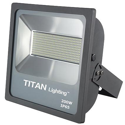 titan lighting gray 200w led flood lights 400w hps hid replacement rh amazon com