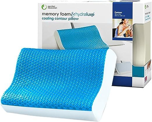 Comfort King Queen Memory Foam  Hydraluxe Cooling Contour Pillow Cooling Gel Top