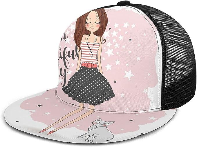 Nicokee Sombrero de malla de chica romántica gorra de