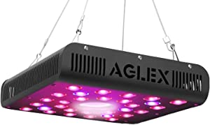 AGLEX COB 600W LED Grow Light - Full Spectrum LED Plant Grow Lamp with Daisy Chain Veg and Bloom Switch for Hydroponic Greenhouse Indoor Plant Veg and Flower