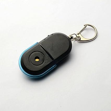 Buscador de llaves LED, sensor de silbato, llavero ...
