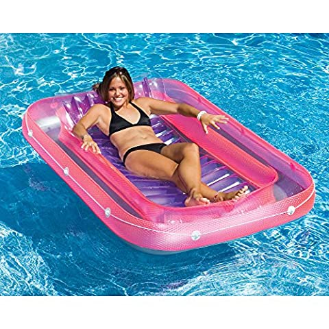 Swimline SunTan Tub Inflatable Island Lounger Swimming Pool Float in Pink - Seahawk 200 Inflatable Boat